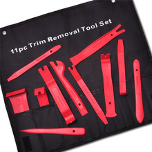 11Pcs New Red Nylon Auto Car Audio Door Dash Tirm Panel Install & Removal Pry Tools SA606 T50