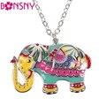 Bonsny elefante esmalte colar de pingente de acessórios de metal de liga de zinco 2016 notícias estilo animais meninas mulher moda jóias