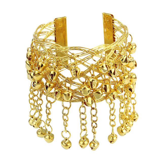 Belly Dancing Jewelry Bell Tassels Upper Arm Cuff Armlet Armband Bracelet Chic for Women Dancer