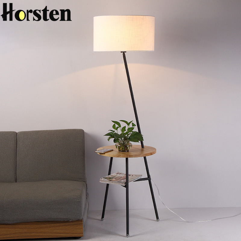 Horsten Japanese Nordic Style Floor Lamp Simple Creative Floor Stand Light For Living Room Sofa Home