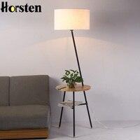 Horsten Japanese Nordic Style Floor Lamp Simple Creative Floor Stand Light For Living Room Sofa Home Decor Lighting E27 110 220V