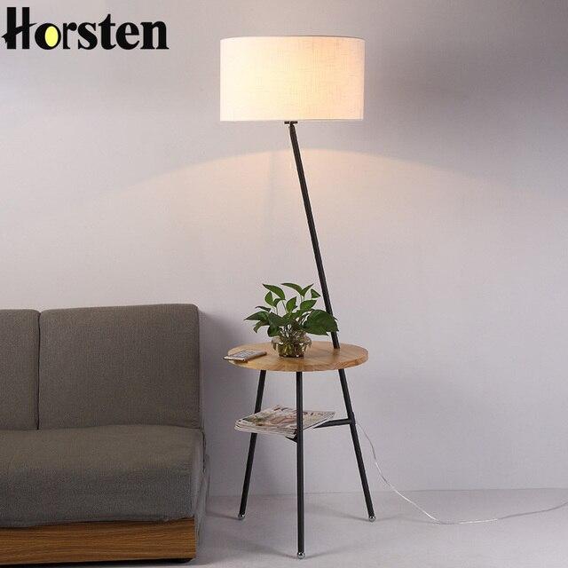 À Style Décor E27 V Pour Éclairage Maison Simple 110 220 Horsten Lumière Japonais Nordique Créatif Lampadaire Salon La Canapé A34RL5j