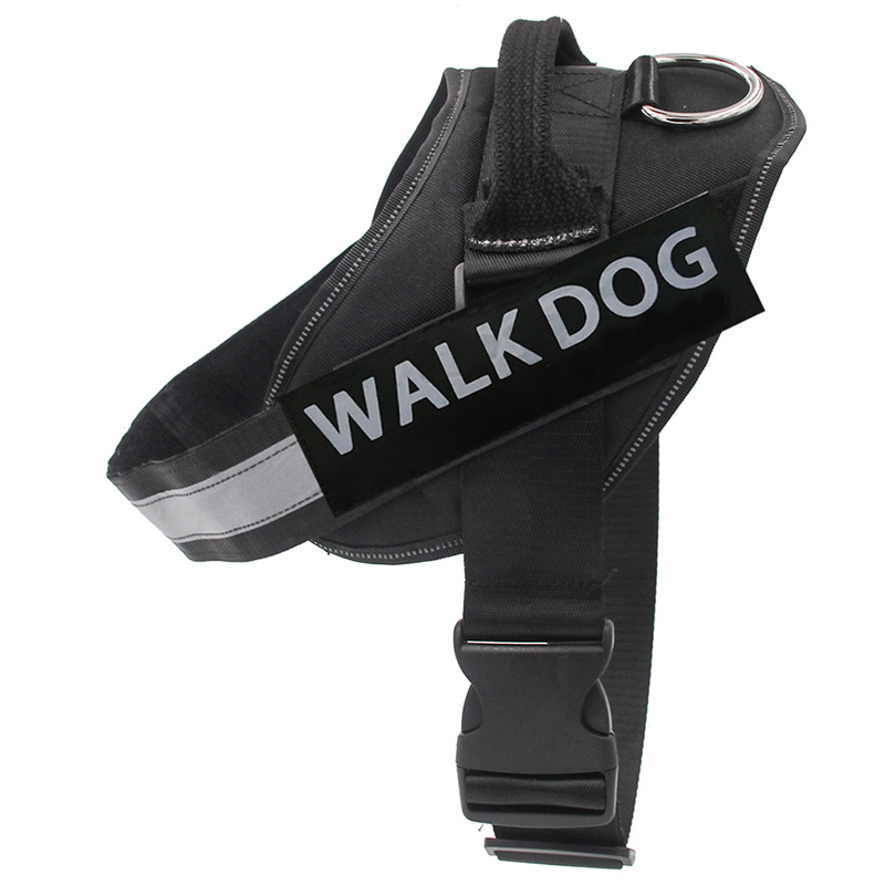 Dog Harness Breathable Pet Harness Vest Dog Collars for Small Medium Big Dog Nylon Dog Lead Belt Pitbull Bull Terrier Rottweiler5