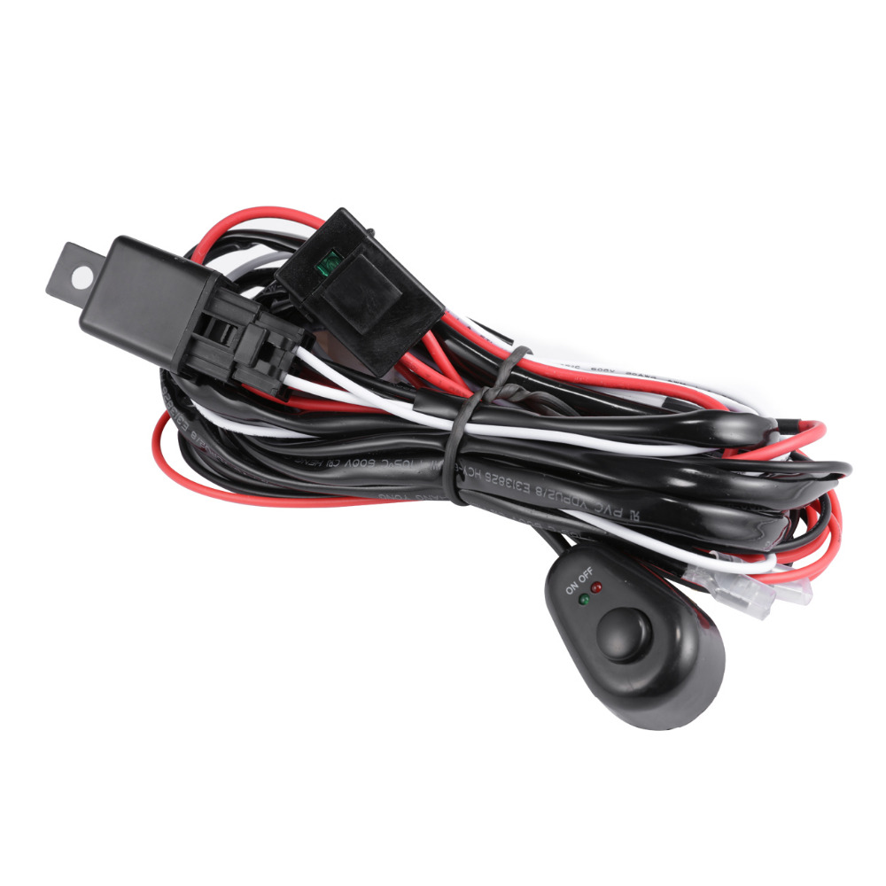 Top 99 Cheap Products Led Light Bar Cable In Bulbs 24v Wiring Kit Loom Harness 40a Switch Relay Partol 2m Car Auto Work Lights Offroad Wire 30a 12v