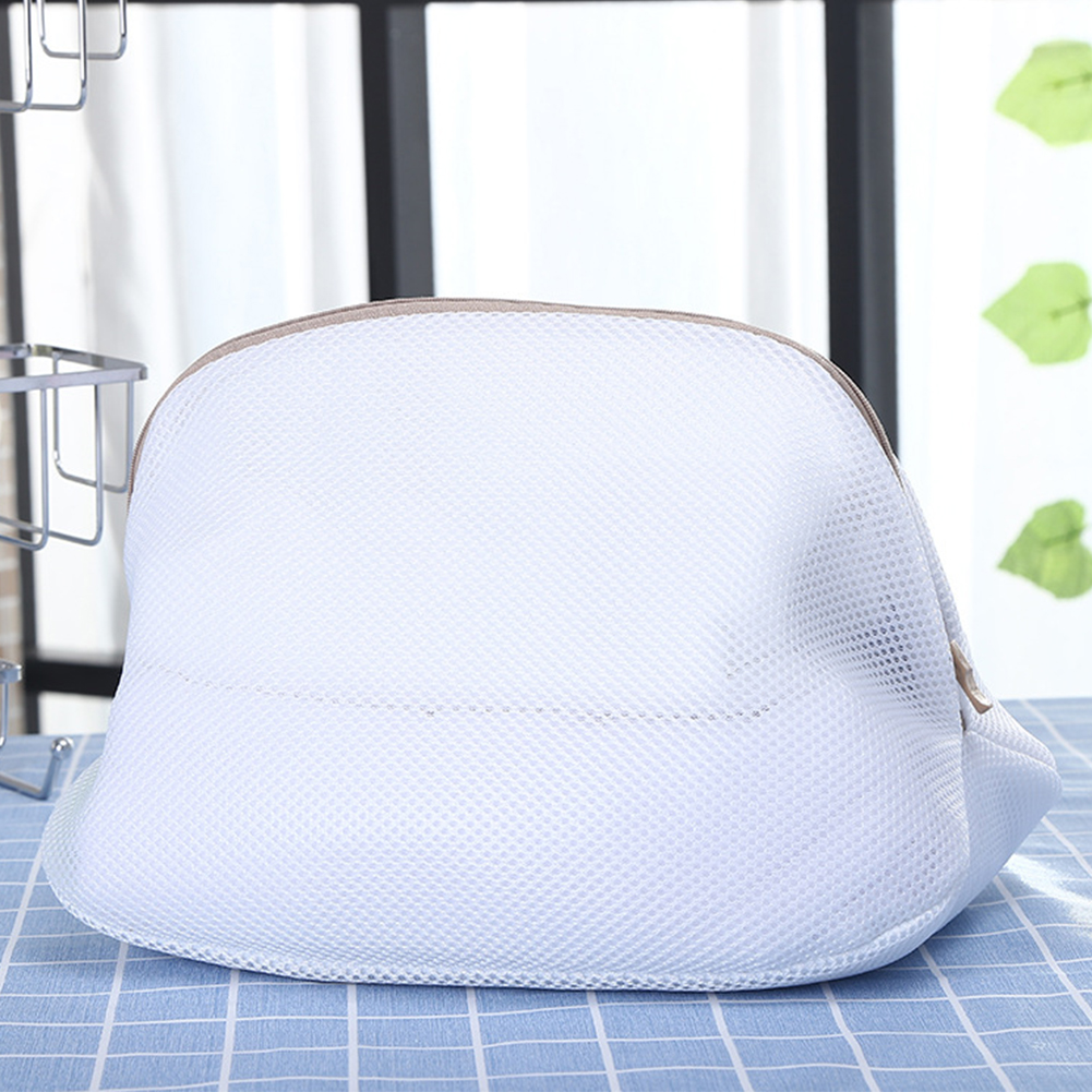 Hood Covers Laundry Bag With Zipper Protection For Shoes Washing Net Home Modern Socks Folding Bra Clothes Machine Polyester
