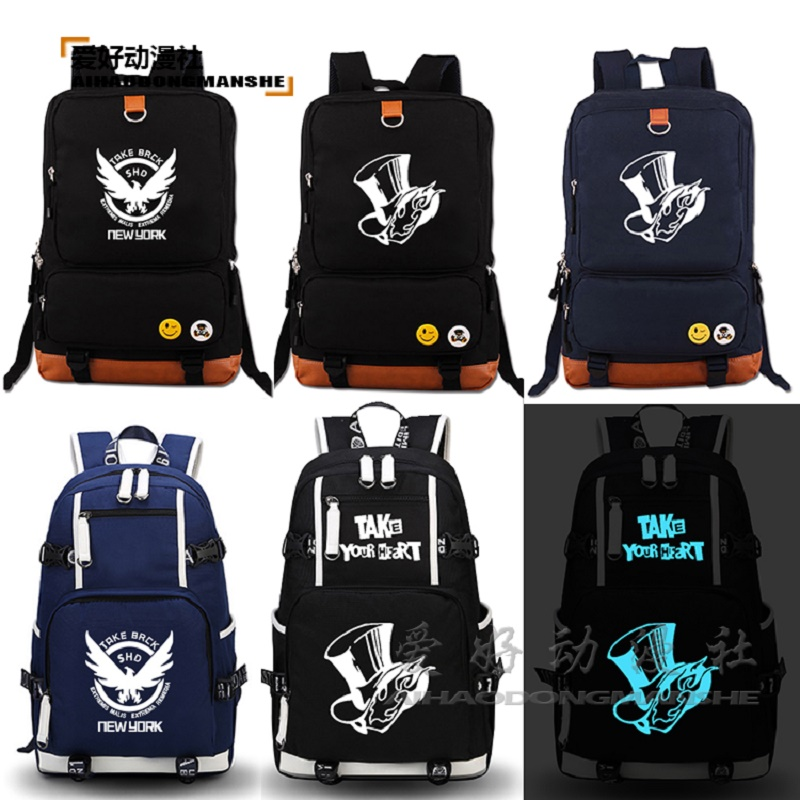 HIGH Q Anime Persona 4 backpack for teenagers unisex preppy style luminous large capacity backpackHIGH Q Anime Persona 4 backpack for teenagers unisex preppy style luminous large capacity backpack