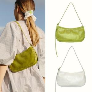 Image 3 - 2019 primavera verano Mujer Moda Verde blanco solo Correa bolsos PU cuero bolso bandolera con cremallera bolso femenino todo partido OC703