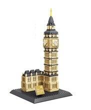 WANGE Architecture Big Ben Skyline Collection Gift Building Blocks Sets City Bricks Classic Model Kids Toys Compatible Legoings