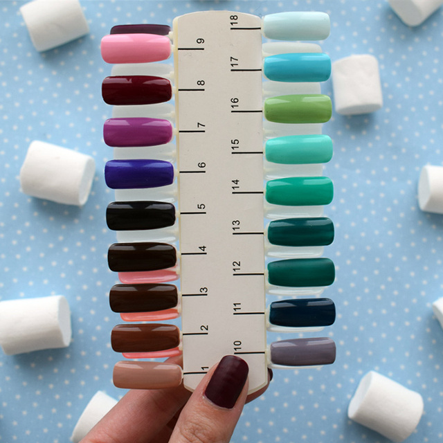 Eleacc False Nails 36 Tips Fake Nail Polish Palette Display Artifictal Color Chart Diy