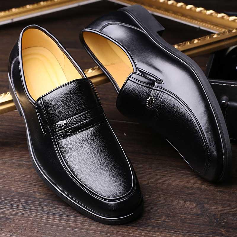 Robe Velours Chaussures Hommes marron Chaud Ww Mâle À Bout Classique Hiver  Cuir Avec Noir 534 ... 0673f600106