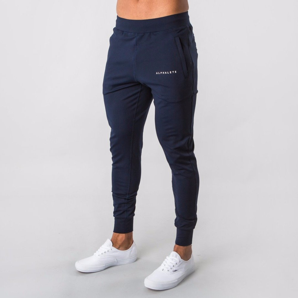 2019 New Style Mens ALPHALETE  Jogger Sweatpants Man Gyms Workout Fitness Cotton Trousers Male Casual Fashion Skinny Track Pants(China)