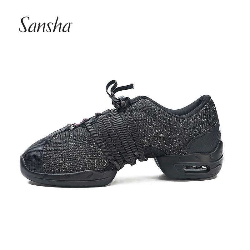 premium selection 6131b 5caa4 US $44.63 5% OFF|Sansha Professional Canvas Teachers Salsa Jazz Modern  Dance Shoes For Women Men Dancing Sneakers P54C-in Dance shoes from Sports  & ...