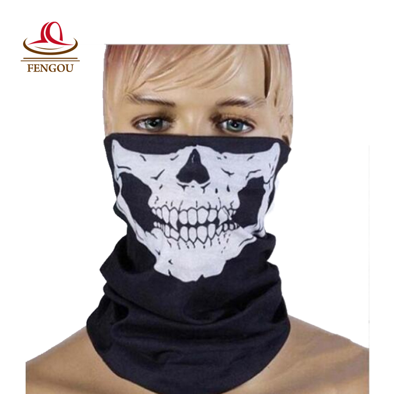 New Fashion Balaclava Beanies Motorcycle Ghost Skull Face Mask Outdoor Sports Warm Caps Bicyle Bike Balaclavas Scarf 2016032 protective outdoor war game military skull half face shield mask black