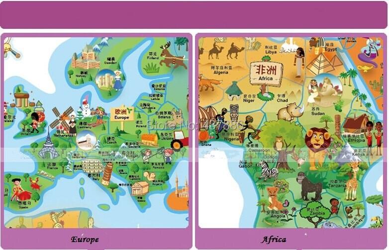 Rice cartoon world map of the world large children real cartoon getsubject aeproduct gumiabroncs Choice Image