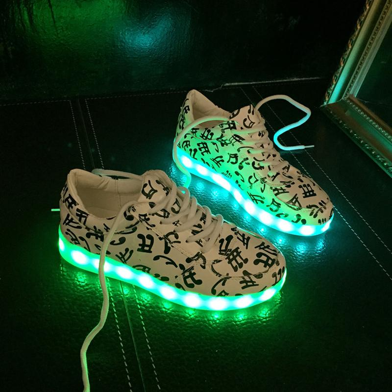 78b6012471b9 8 colors men women luxury designer USB Charging LED Lights Shoes light up  shoes adults glowing new shoes simulation DPS-MS085