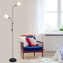 Nordic modern floor lights minimalist bedroom living room lamp vertical study LED eye floor lamp office lighting 2 heads lamps