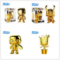 FUNKO POP Marvel The 10th Anniversary Iron Man LOKI Groot Captain America Vinyl Doll Kid Birthday Gift Collection For Movie Fans