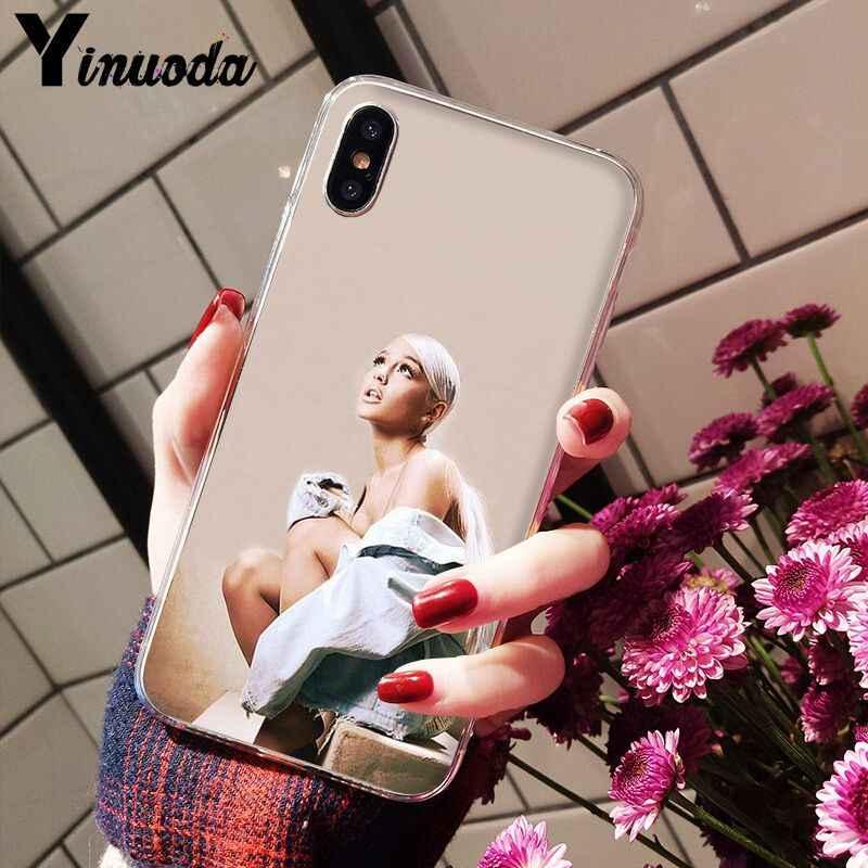 Yinuoda Ariana Grande AG Rainbow สารให้ความหวานโปร่งใส Soft Shell สำหรับ iPhone 8 7 6 6S Plus 5 5S SE XR X XS MAX Coque