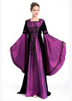 Free Shipping The Medieval Court Costume Cosplay Halloween Costume Party Female Magician