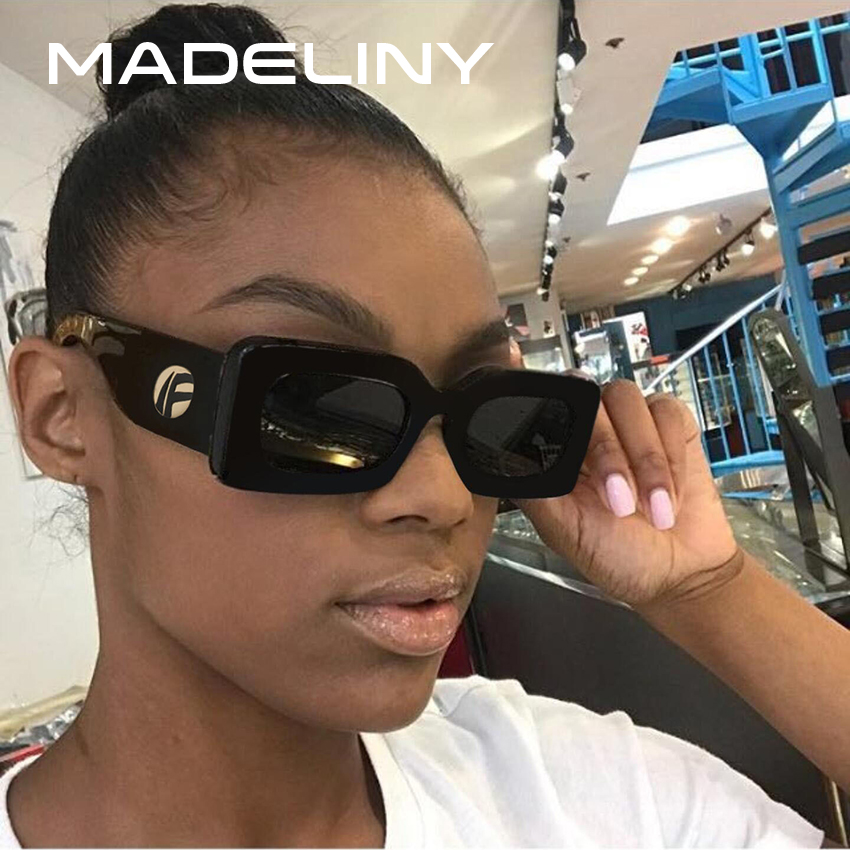 MADELINY New Women Sunglasses Square Fashion Brand Designer Vintage Sunglasses 2018 Luxury Acetate Eyewear MA080