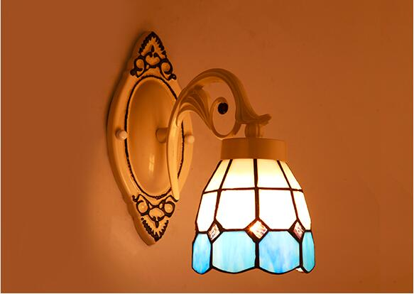 Nordic Style Tiffany Stained Glass Single Head & Double Head LED Wall Lamps Wall Lamps E27 AC 90-260V lustre light wall lighting