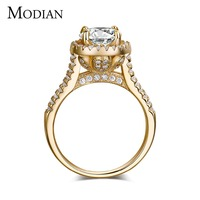 2016 New Fasion Jewelry Real 925 Sterling Silver Ring 18K Gold Plated Engagement Wedding Rings 5A