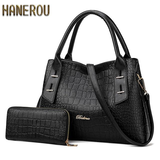 674c85e5b81f Женская сумка, набор, новые роскошные сумки, женские дизайнерские 2 шт.,  осенняя ...