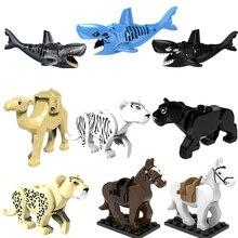 Pedaços pequenos Animais Figuras Blocos de Construção do Modelo Diy Bricks Compatível Com Legoingly Acessório Handmade Brinquedos Para Crianças