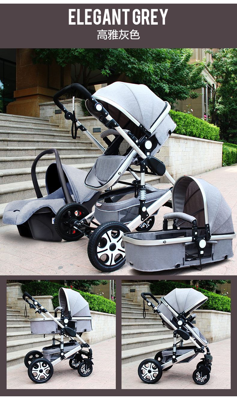 Newborn Stroller Nz 2019 Jt Baby Star Baby Stroller Pushchair 3 In 1 High Landscape Fold Strollers For Children Travel System Prams For Newborns From Laurul 579 42