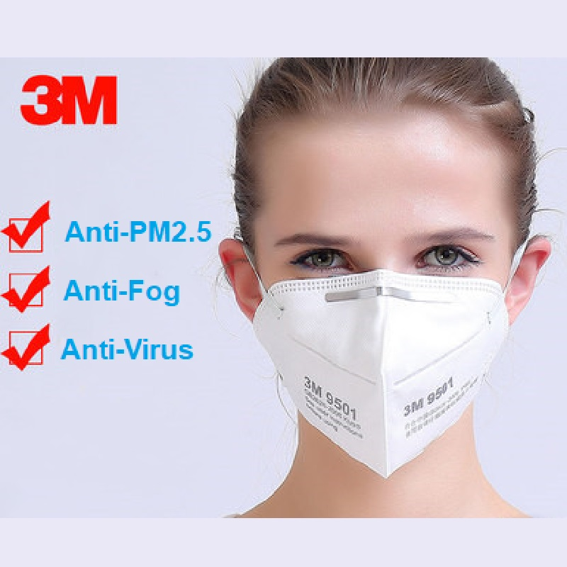 10/25pcs 3M FFP2 N95 9501/9502 Dust PM2.5 Protective Mask Anti Fog Standard Masks Adult Safety Particles Influenza-proof Riding