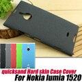 Quicksand mate duro caso cubierta de piel para nokia lumia 1520 + protector de pantalla