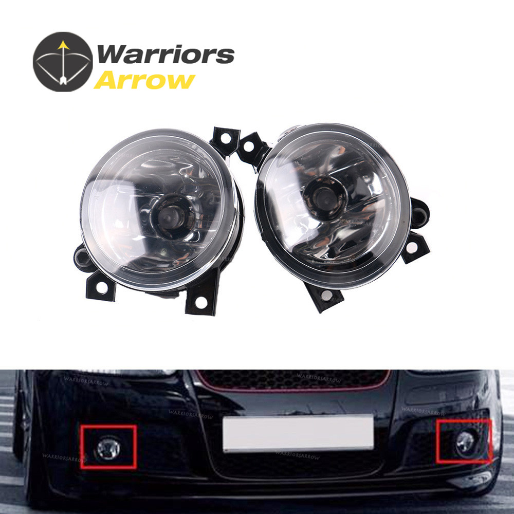 1KD941699 1KD941700 For VW <font><b>Jetta</b></font> Golf MK5 Rabbit Scirocco Pair Front Halogen Convex Lens Fog Light Lamp LH RH image