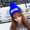NEW YORK Letters Knitted Beanie Cap 2016 New Arrival Winter Warm Hats for Women Men High Quality Ladies Caps CP022