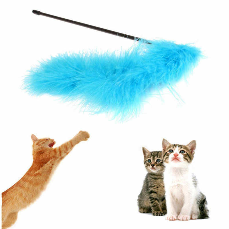 Nuovo Animale Domestico A Buon Mercato Giocattoli Del Gatto di Tacchino Piuma Bacchetta Bastone Cat Catcher Piuma Teaser Toy Pet Gattino Salto Treno Aid Pet forniture gatto
