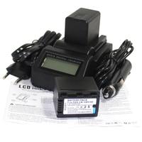 New 2Pcs VW VBK360 Li ion VW VBK360 Camera Battery + LCD Fast Charger For Panasonic HDC HS80 HDC SD40 HDC TM40 SD60 SD80 SDX1