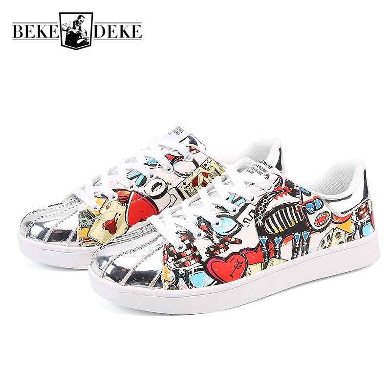 2019 New Breathable Men Casual Shoes Slip On Male Footwear Man Colorful Shoes Lace Up Metal