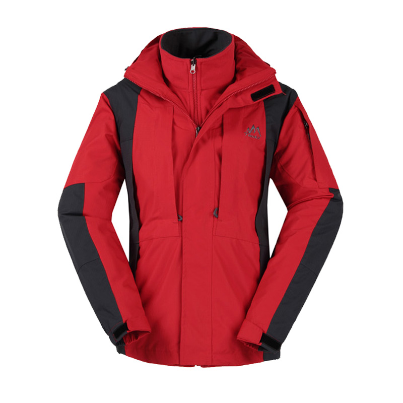 Male three in outdoor font b jacket b font twinset waterproof thermal font b hiking b