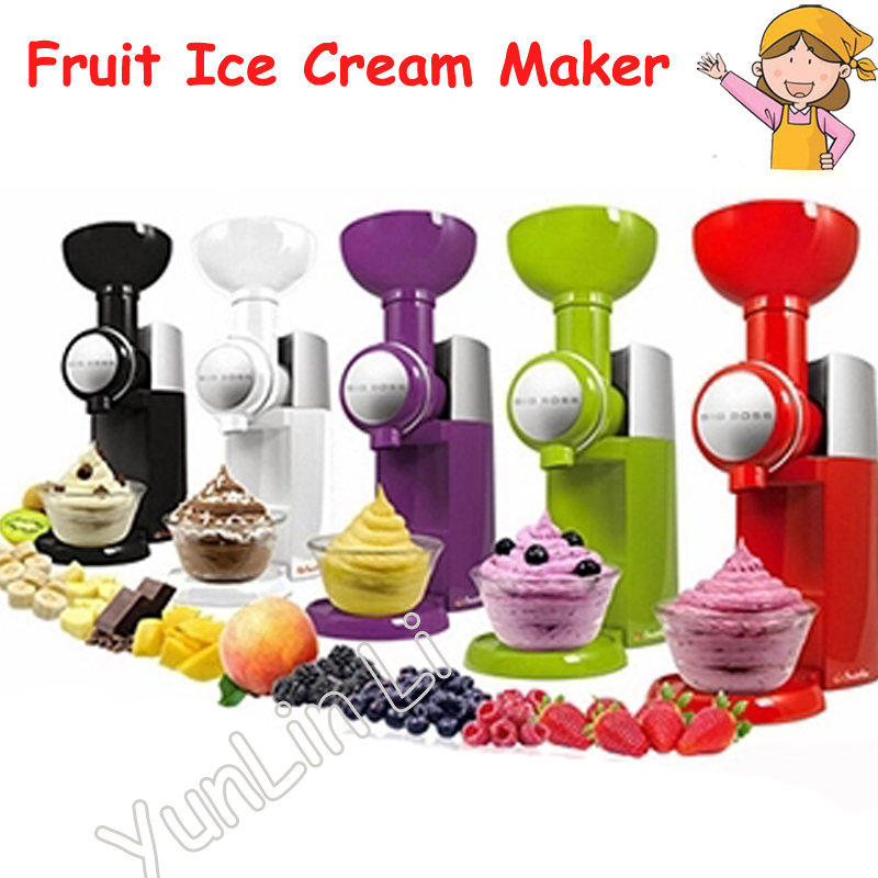 Fruit Ice Cream Maker Frozen Fruit Dessert Making Machine Household Colorful Ice Shakers/ Ice Crusher jiqi household snow cone ice crusher fruit juicer mixer ice block making machines kitchen tools maker