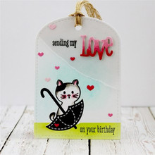 Eastshape Tags Dies Metal Cutting Scrapbooking Umbrella Love Heart Bookmark Die Cut for Card Makings Craft New 2019