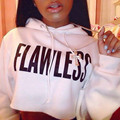 New Fashion Womens Crop Hoodie Long Sleeve Jumper Hooded Pullover Casual Sweatshirt Tops