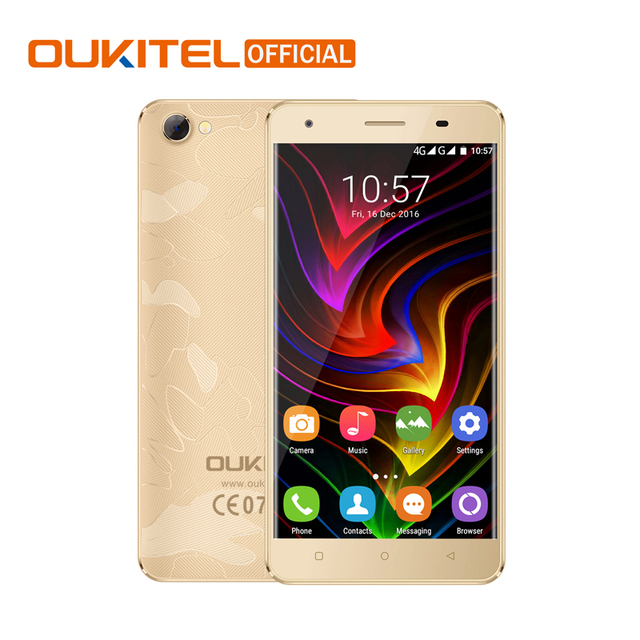 "Original Oukitel C5 Android 6.0 MTK6580 Quad Core Smartphone 5.0"" 1280*720 HD Mobile Phone 2G RAM 16G ROM 2000mAh Cellphone"