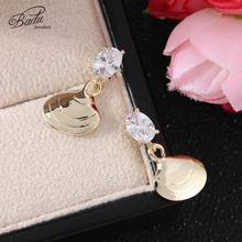 Badu Small Gold Dangle Women Earrings 2019 New Seashell Cute Metal Pendant Statement Jewelry Party Gift Wholesale