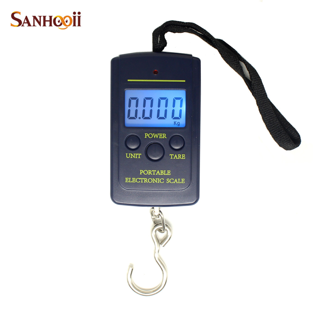 portable 40kg10g mini portable electronic scale weight luggage scale digital travel hanging hook scale - Hanging Scale