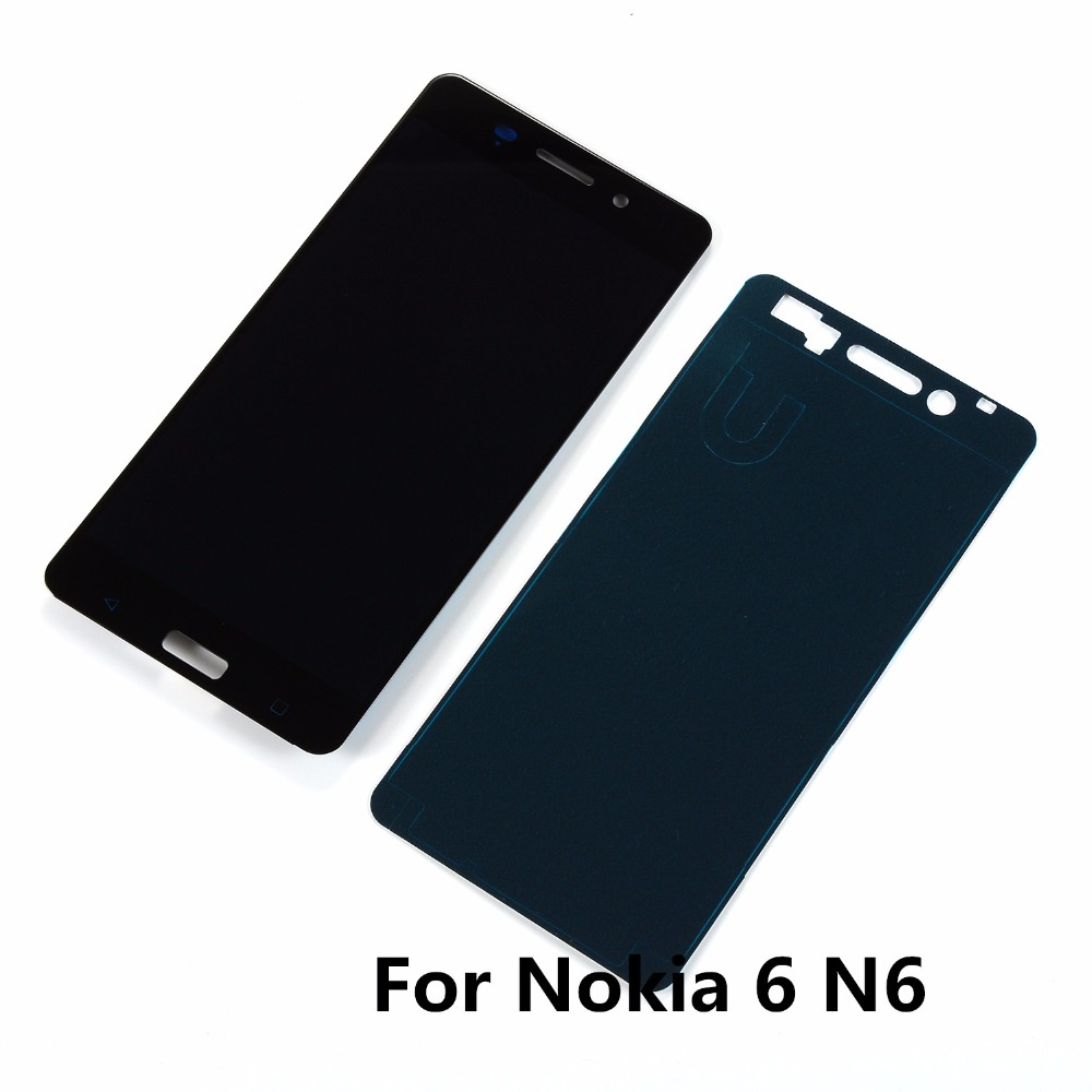 For <font><b>Nokia</b></font> 6 N6 TA-1000 TA-1003 TA-1021 TA-1025 TA-1033 TA-1039 Lcd Display Touch Screen Digitizer Assembly+Glue Adhesive image