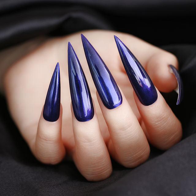 1 Box Nail Glitter Powder Purple Mirror