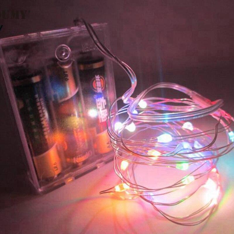 SZYOUMY 5M 50 LED String Fairy Light Batterie Opéré Xmas Party - Éclairage festif - Photo 6