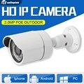 HD 2-МЕГАПИКСЕЛЬНАЯ Пуля Ip-камера Наружного 1080 P POE Сети Ночь видение CCTV Камеры Безопасности P2P Облако ПК Поддержки iPhone Android посмотреть