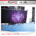 dj booth led 1.2x1.8m small new size P10 xxx video led display curtain disco backdrop for party city