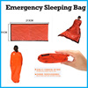 Portable Emergency foil Reusable Waterproof Rescue Space Thermal orange Sleeping Bag Outdoor Camping Hiking Safety & Survival