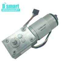 Bringsmart High Torque Reducer Encoder A58SW 555B DC 12V Encoder Motor 24V DC Worm Gear Motor 470rpm Turbine Reduction Motor
